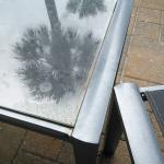 Gooey table on our terrace, stayed like this all week