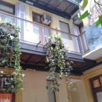 Área de descanso do hostel