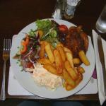 My meal 1 (cajun chicken, chips, coleslaw and salad £9.95)