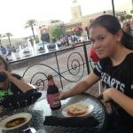 alfresco dining with the girls