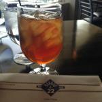 waitress kept the iced tea glasses filled