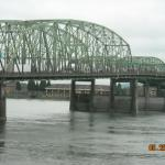 The bridge and the Columbia River
