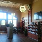 Inside the tourist information building