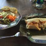 Tamales and Salad