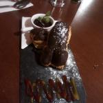 Chocolate Eclair desert gave us a unintentional giggle