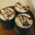 Decorated hot cocoa