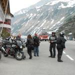 Col du ARLBERG une heure avant notre arrivée.