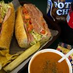 We offer daily soups along with Dieffenbach's Chips and Coca Cola products.