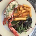 Lobster and chips - delicious!