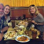 Enjoying good friends and good food at the Yak