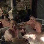 The hot tub...so romantic!