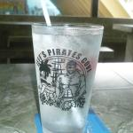 Glass with logo
