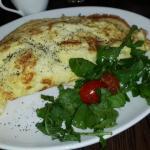 Omelette with mushroom, spinach & feta