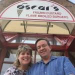 15 years ago, I met my future husband at Oscar's Custard Stand.  So every June 3rd we go back to