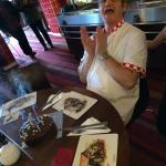 The Famous Windy Ridge Eating Carvery Chef enjoying his birthday cake with all the staff!��