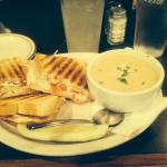 Dash-In Gourmet Grilled Cheese and Baked Potato Soup