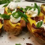Gourmet potato skins