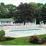 Motel pool and grounds