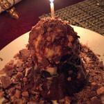 Complimentary decadent dessert
