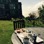 Cream Tea on the lawn