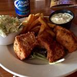 Mad Anthony Beer Battered Walleye and Slaw