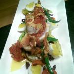 nicosie salad with seared albacore
