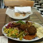 Large plate of falafel ($12.00).