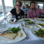 Fish and Turk specialities high above Istanbul with a 360 degree view of the busy port