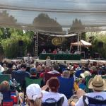 Speaker panel in outdoor auditorium (Contact in the Desert Conference - May 2015)
