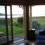 View of Scapa Flow through Buxa sitting room window