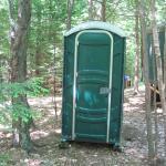 Porta potty...very clean
