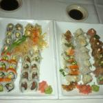 A fine platter of Sushi from Odem Thai always fresh and tasty. The safe bet is to be there at 5