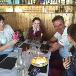 Irish celebrity chef Kavin Dundon is celebrating his daughter's birthday with his family is in C