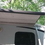 Our awning 1/4 extended because of a tree!