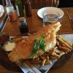Fish and Chips.  HUGE portion!