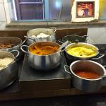Buffet of traditional dishes including Mandela's favorite