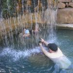 Waterfall in the big pool.