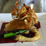 "Duck with berry sauce and parsnip shavings..""best I have ever had"""