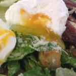 Caesar Salad with Runny Egg