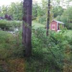 A view from the back porch of Firefly cabin 1, as well as the inside