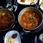 Balti lamb Ceyon, balti chicken zalfrezi and naan breads - Spice Avenue