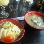 Salade & soupe dans le menu