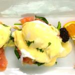 Eggs Benedict 12 ways! Chose yours... with fresh apple, pear or orange juice...