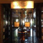 Beautiful entrance into restaurant
