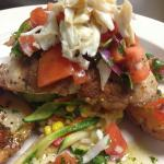Grilled Arctic Char w/ Crab & Pico de Gallo
