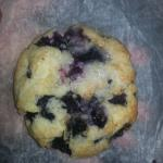Blueberry scone, very moist and delicious
