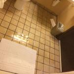 The Best Western Plus River Escape's handicapped accessible shower send water throughout the res
