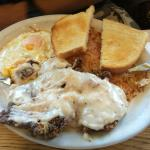 Contry Fried Steak, Eggs and Taters
