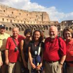 Happy group at the Colosseum.