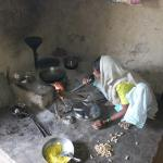 Farmer's wife cooking for us